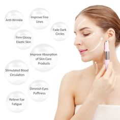 Facial Massager Vibrating Ionic Heated Eye Massager Rechargeable Infuser - Booster Nutrition Face Tightening Lifting Anti Wrinkle Anti Aging Skin Care Devices