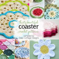 30 free coaster crochet patterns by @Lauren @ Daisy Cottage Designs