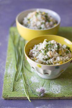 Insalata di riso al lime e gamberetti - Lime and shrimp rice salad