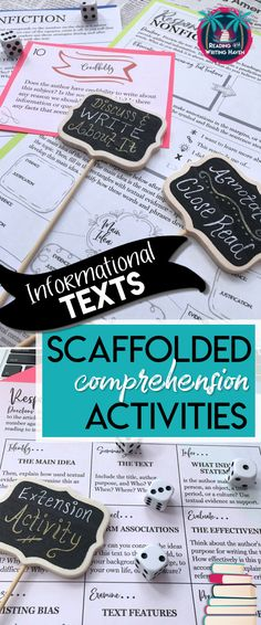 3 scaffolded comprehension activities for any nonfiction article or informational text. Help older students students read more purposefully, comprehend more deeply, and reflect more thoughtfully with these meaningful exercises. #highschoolela #informationaltexts