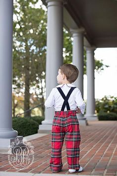 Mr. Bingley Britches - Society Prep Plaid with Navy Straps & Peter Pan - The Beaufort Bonnet Company