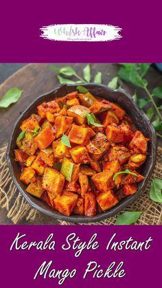 Pasta Recipes Indian, Healthy Indian Recipes, Asian Recipes, Vegetarian Recipes, Cooking Recipes, Kerala Recipes, Indian Pickle Recipe, Pickle Mango Recipe, Tiffin Recipe