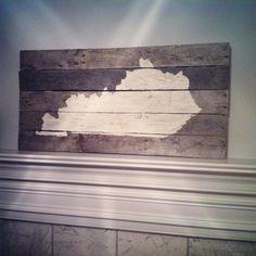 Custom state pallet map reclaimed wood by Barnettbuilding on Etsy, $50.00