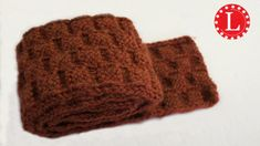 LOOM KNIT SCARF on Round Loom with Basket Weave Stitch Pattern Step by S...