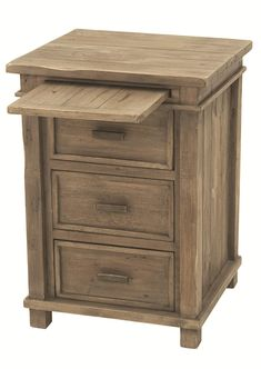 Night stand with pull out shelf