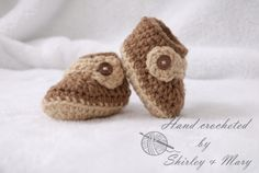 Brown booties by MarysCrochetdesigns on Etsy, $10.00