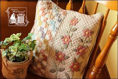 Spring cushion of the flower: Patchwork * Pink Caramel *!