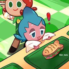 Cookie Games, Cookie Run, Cotton Candy Cookies, Shark Cookies, Kawaii, Fandoms, Cookie Designs, Cute Characters, Anime Comics