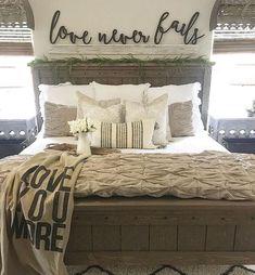 Love Never Fails Rustic Bedroom