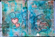 Art Journal page made by Marleen, life is better with friends. | Art Anthology