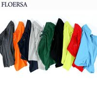 FLOERSA Summer New Men's Shorts Cotton Casual Shorts Men Solid Color High Quality Bermuda Fashion Jogger Beach Short Men #D00750
