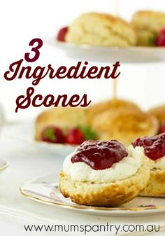 3 ingredient scones