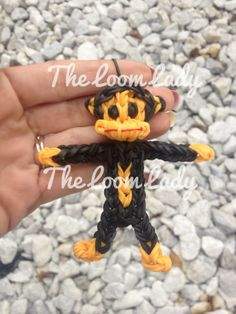 Loomed by Melissa Forest on Rainbow Loom FB page. Paul Frank's JULIUS the MONKEY.