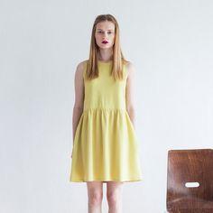 Yellow Dresssummer sleeveless dress Sundress Women by YaelAdmoni