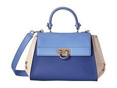 Salvatore Ferragamo Tri-color Medium Sofia Satchel Handbag