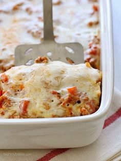 I can\'t say enough good things about this macaroni and turkey casserole! It\'s comforting, kid-friendly and so easy to make because there\'s no need to pre-cook the pasta!