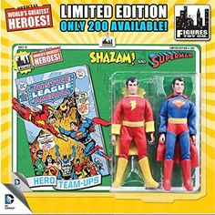 "Shazam Products : DC Superman World's Greatest Super Heroes Retro Two-Pack Series 1 Superman & Shazam 8"" Action Figure 2-Pack"