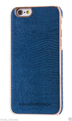 Richmond & Finch Framed Rosé Case for iPhone 6 (S) - Blue Navy Reptile | by Covers Online