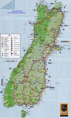 New Zealand - map South