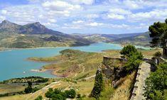 The view over the reservoir from Zahara de La Sierra.