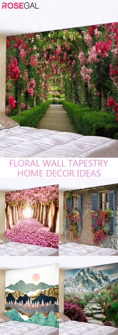 Rosegal floral wall tapestry for livingroom bedroom tapestries wall hanging decoration for dorm studio house apartment #Rosegal #walltapestry #homedecor