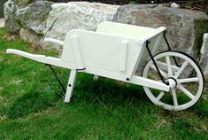 Amish Made Small Wooden Wheelbarrow