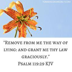 Psalm 119:29 KJV