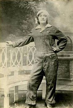 """Charlotte 'Lottie' Meade was a munitions worker during the First World War. She died of TNT poisoning contracted on duty. From the flickr stream of London's Imperial War Museum -- see link for more info. """"Her death certificate recorded that she lived in North Kensington in London. It is believed she had at least three great-grandchildren."""""""