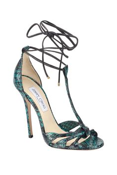 Jimmy Choo Exotic Skins Green Sandals High Heels Spring 2014 #Shoes #JimmyChoo  with <3 from JDzigner www.jdzigner.com