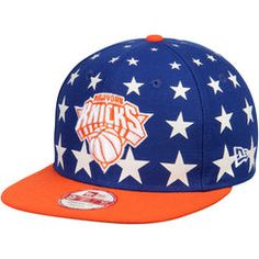 Men s New Era Royal Orange New York Knicks Starry Cap Original 9FIFTY  Adjustable Hat Orange 31e58ff04d7d