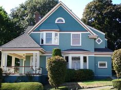 Queen Anne - Seattle Victorian by Historic House Colors