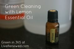 Green and natural cleaning using Lemon Essential Oils. Lemon oil makes a great multipurpose cleaner, here's how you can use it all around your home!