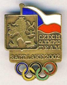 2002 SALT LAKE Olympics CZECH Republic NOC deleg pin BADGE Winter Olympic Games