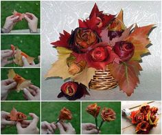 Maple Leaf Rose Bouquet