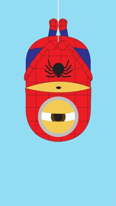 2014 spider-man minion iphone 6 plus wallpaper from Despicable Me for Halloween