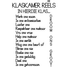 klaskamer reels Classroom Themes, Classroom Activities, Classroom Behavior Management, Behavior Rewards, Preschool Homework, Afrikaans Language, Free Worksheets For Kids, English Phonics, Afrikaanse Quotes
