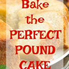 How to Bake the Perfect Pound Cake. Baking tips and tricks. Bake like a pro. I want to teach you how to Bake the Perfect Pound Cake! With just a few tips, you can have that perfectly buttery and velvety pound cake. Lemon Cream Cheese Pound Cake Recipe, Key Lime Pound Cake, Sour Cream Pound Cake, Cream Cheese Recipes, Banana Pound Cakes, Pumpkin Pound Cake, Blueberry Pound Cake, Original Pound Cake Recipe, Million Dollar Pound Cake