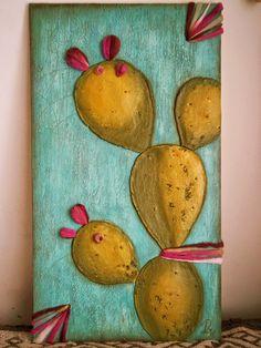 Jar Art, Happy Design, Cactus Art, Mini Paintings, Glass Jars, Book Art, Succulents, Arts And Crafts, Artsy