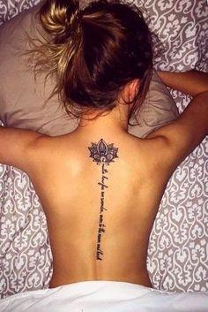 Mini Tattoos, Name Tattoos, Flower Tattoos, Body Art Tattoos, Small Tattoos, Leg Tattoos, Tatoos, Girl Spine Tattoos, Spine Tattoos For Women