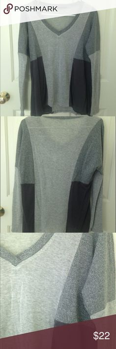 Ella Moss Gray Sweater NWOT Super cute Ella Moss sweater; v-neck, long sleeve, soft, unique design, warm, & well made. Feel free to make an offer! Ella Moss Sweaters V-Necks