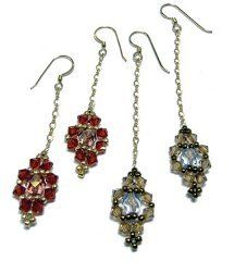 LUXE LOOK Jeweled Dangle Earrings, seem complicated, but aren't. If you like vintage, these are very nice.