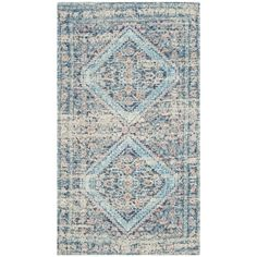 Safavieh Saffron Transitional Geometric Hand-Spun Cotton Blue/ Turquoise Area Rug (3' x 5')