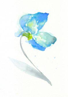 Flower, flower print, Watercolor print, fine art giclee print, Sweet Pea, Original, abstract watercolor, watercolor giclee print 6x8