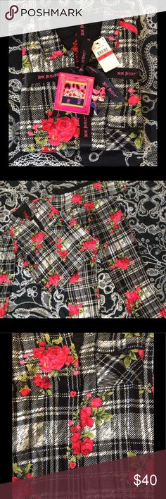 Betsey Johnson Flannel PJs Looking to spruce up your tired bedtime fashions? Look no further than these comfy, cute flannel pjs(55% cotton, 45%rayon). Adorned with roses and accented with red heart shaped buttons, these gorgeous nighttime ensembles won't last long!😍😍 Betsey Johnson Intimates & Sleepwear Pajamas