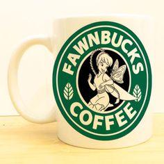 Fawnbucks Coffee Mug | Fawn Fairy Neverbeast Starbucks | Disney Fairies