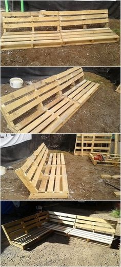 Wood pallet can be usefully utilized in the garden areas of your house as well. For easy use of the wood pallet we would suggest you to choose the option of the wood pallet simple outdoor bench. This bench is small in size and would occupy a small portion of your garden.
