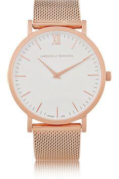 Larsson & Jennings | CM rose gold-plated watch | NET-A-PORTER.COM
