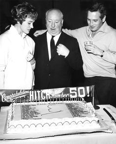 Julie Andrews, Alfred Hitchcock, and Paul Newman.
