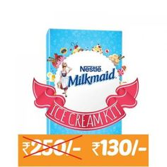 Milkmaid Ice Cream Kit -Contains Milkmaid Tin Go Cream Plastic Container & Recipe Booklet At Rs.91 From Paytm