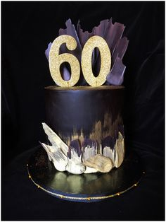brushstroke 60th birthday cake made by pamycakes
